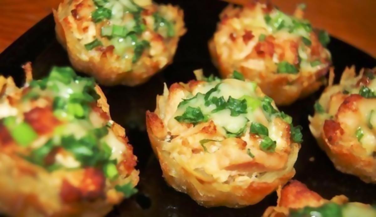 Горячие блюда в тарталетках рецепт